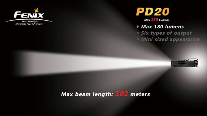 Eliteled Com Fenix Pd20 Cree Xp G R5 Led Flashlight